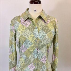 Sigrid Olsen Multi Button Down Shirt Size M (B-72)